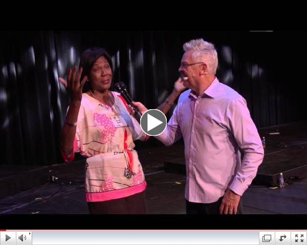 Former Olympian Healed of Knee Pain At VOA 2014!