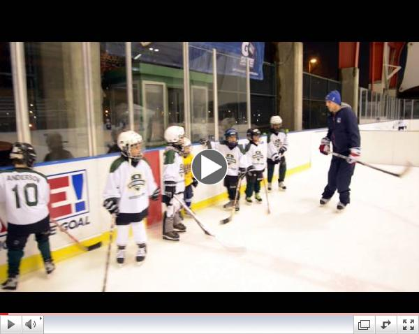 Riverbank ice rink reopens with skills clinics led by members of the New York Rangers