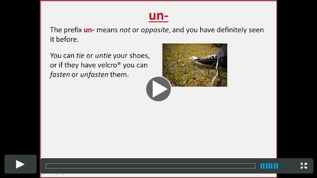 The prefix UN