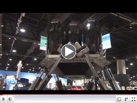 Exlar� electric actuators perform on Sim-zilla, an extreme racing simulator.