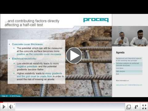 Proceq Webinar: Corrosion analysis of reinforced concrete structures
