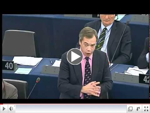 UKIP Nigel Farage - How dare you tell the Italian and Greek people what to do !!! Nov 2011