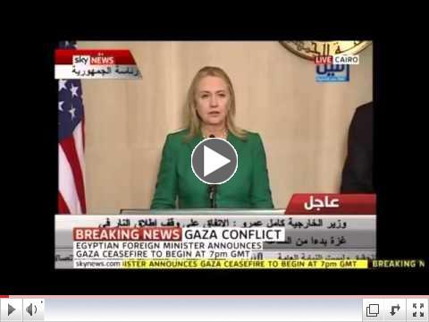 Hillary Clinton Announces Israel-Hamas Ceasefire - 11/21/2012 [Extended]