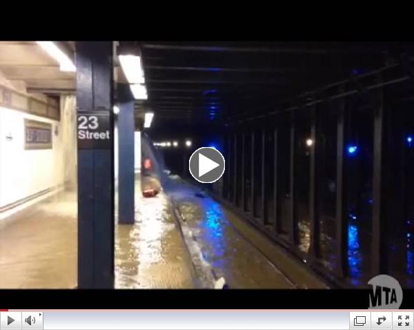 MTA Video Release: 23 St Station Watermain Break