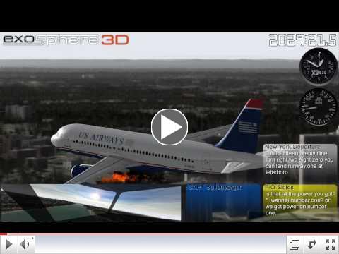 Flight 1549 3D Reconstruction, Hudson River Ditching Jan 15, 2009