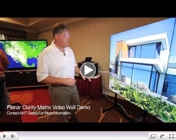 2014 Planar Clarity Matrix Demo 4K Video Wall