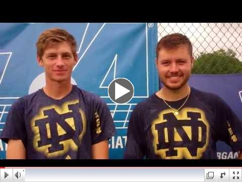 Men's Doubles Champions: Alex Lawson & Billy Pecor, Notre Dame