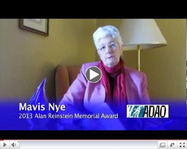 Mavis Nye, 2013 Alan Reinstein Award Conference Acceptance Video Speech