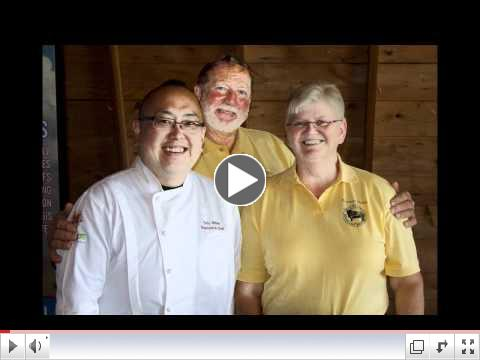 John and Dorothy Priske with Tory Miller