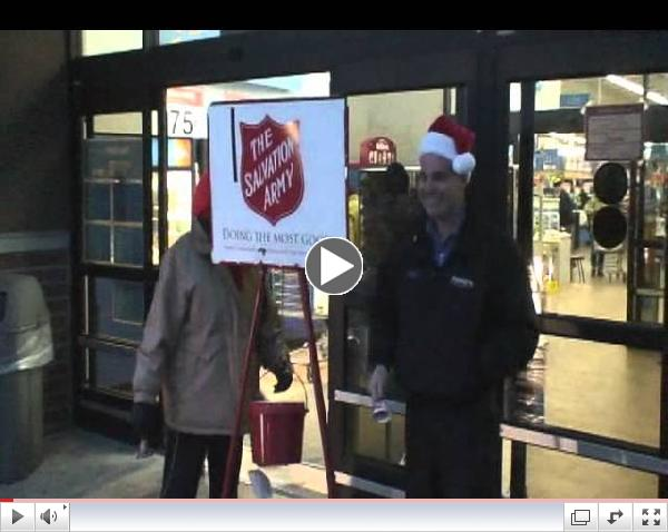 Steve Labbe from Paradigm Rings The Bell for the Salvation Army in Hooksett, NH