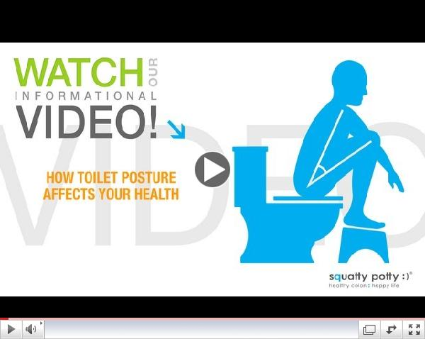 Squatty Potty® toilet stool: How toilet posture affects your health