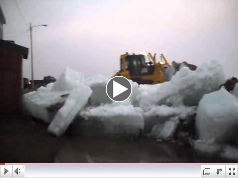 Kotzebue Alaska Ice pile up Front st. 2011