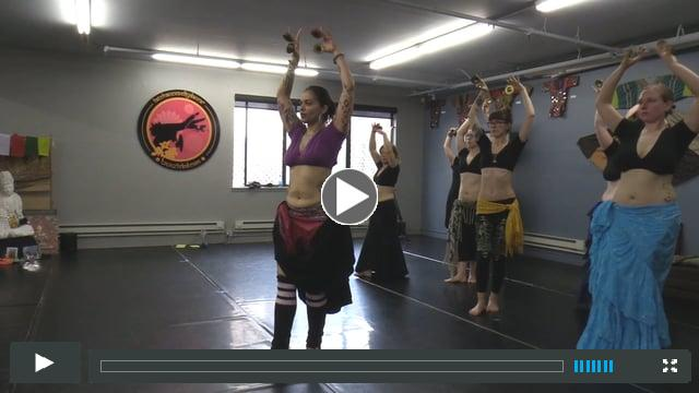 FatChanceBellyDance, Inc. instructor Anita Lalwani teaching the Strong Arm