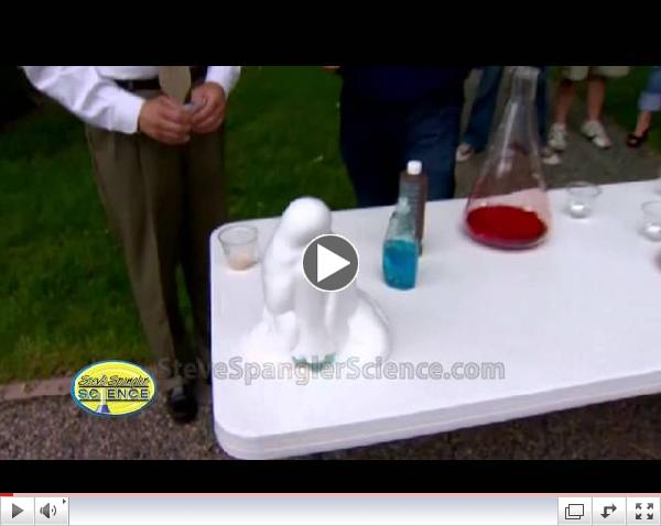 Patriotic Monster Foam - Cool Science Experiment