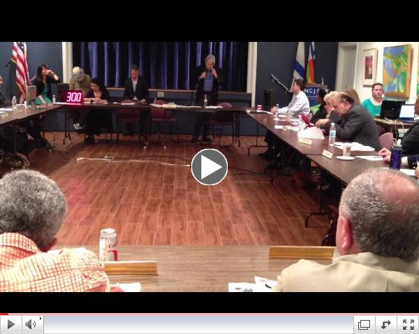 Ken Draper speaks at the Mid City West Community Council