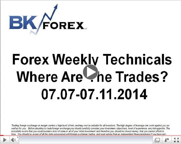 Forex Weekly Techs Where Are The Trades?  07.07-07.11.2014