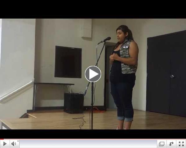 Ashlie performing at La Academia's showcase w/ Cafe Cultura || Spoken Word