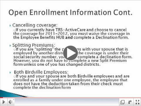 2011-2012 Open Enrollment Video