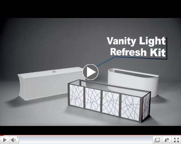 Vanity Light Refresh Kit Diy : Lighting Simply Staged, LLC