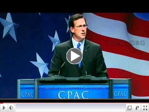 Rick Santorum at CPAC 2011