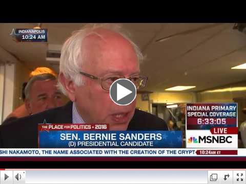 Bernie Sanders says: The World has changed