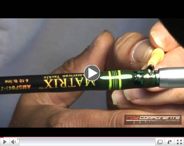 RCA 30   Applying epoxy to your rod