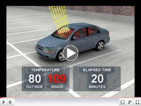 Temperatures Rise Quickly Inside a Vehicle