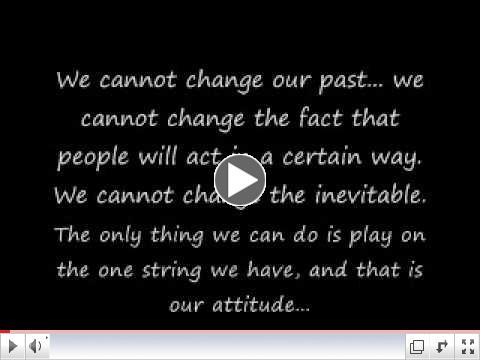 Chuck Swindoll - Attitude