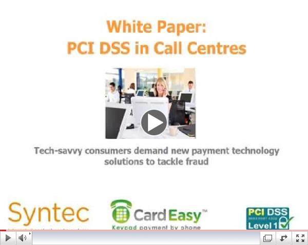 PCI DSS white paper research findings presentation