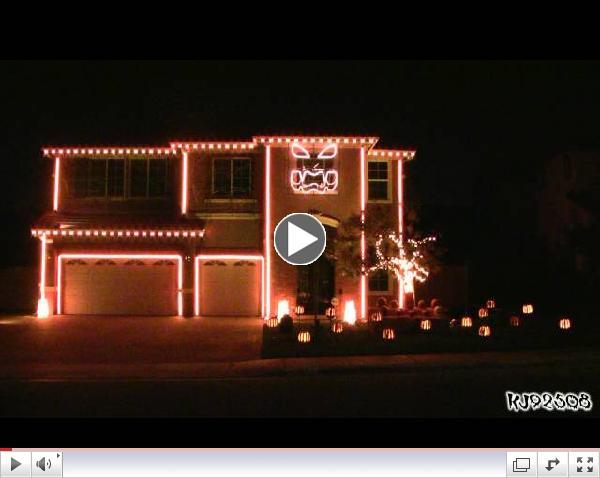 Halloween Light Show 2011 - This Is Halloween