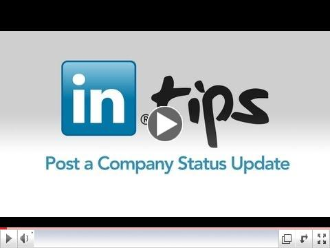 Post a Company Status Update on LinkedIn