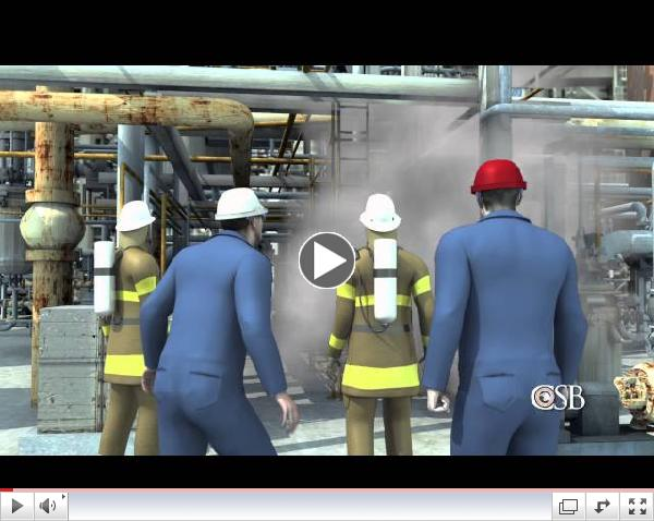 Animation of Fire at Chevron's Richmond Refinery, August 6, 2012
