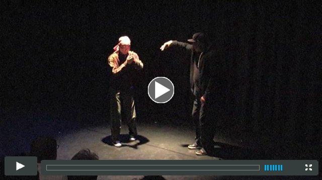 Flash (work-in-progress dance theater duet by Rennie Harris and Michael Sakamoto)