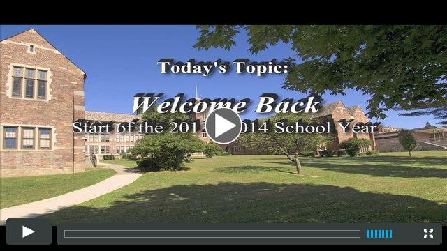 Welcome Back 2013-14!