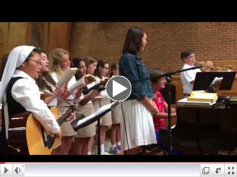 First Mass! Sing to the Mountains Recessional Hymn!