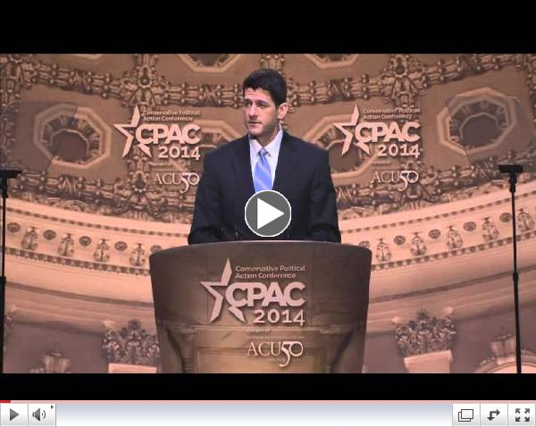 CPAC 2014 - U.S. Representative Paul Ryan (R-WI)
