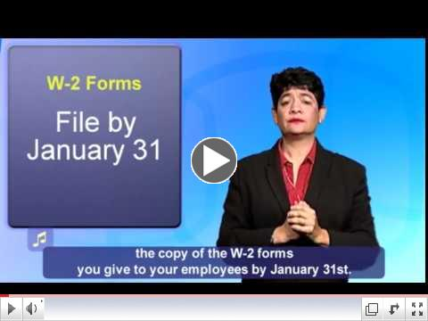 ASL: W-2s, W-3s, 1099-MISC, Information Returns Due Date: January 31, 2018