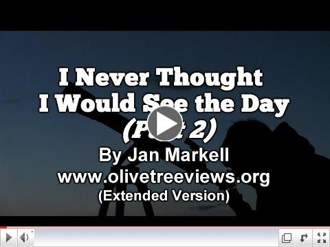 Jan Markell/Prophecy Update Video