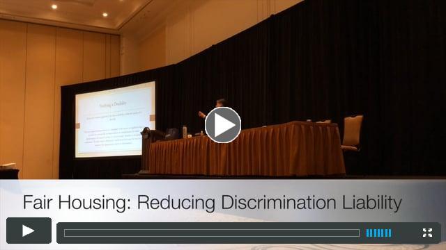 Fair Housing: Reducing Discrimination Liability