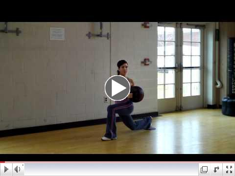 Fitness Pointe Reverse Lunge with Trunk Rotation
