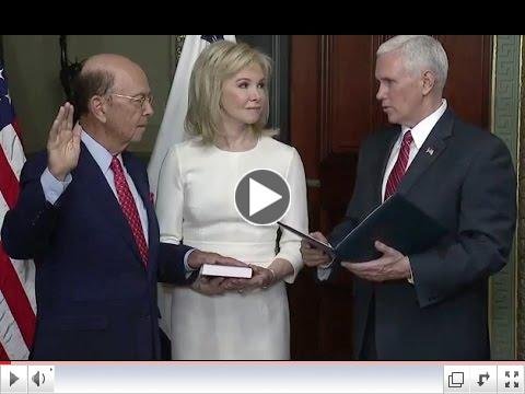 Billionaire Wilbur Ross is sworn-in as Commerce Secretary. The U.S. Senate voted 72-27 on Monday evening to confirm Ross as President Donald Trump's Commerce Secretary.