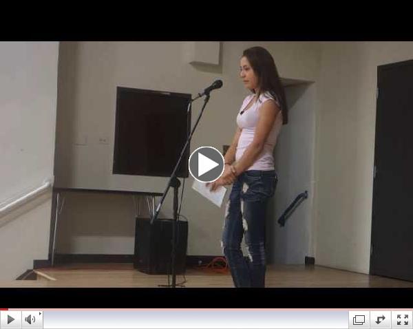 Aniah performing at La Academia's showcase w/ Cafe Cultura || Spoken Word