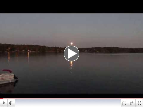HARVEST MOON DANCES OVER LAKE GREENWOOD