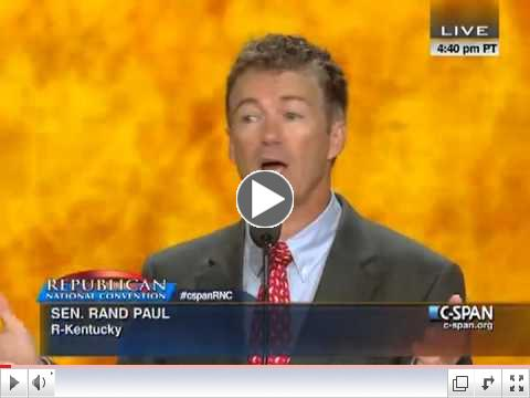 Rand Paul speaks at the RNC Convention