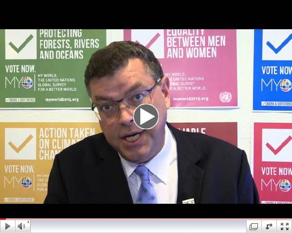 Danish Minister for Development votes for MY World 2015