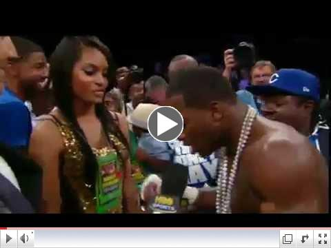 Adrien Broner Post fight interview | Marriage proposal | Adrien Broner vs Vicente Escobedo