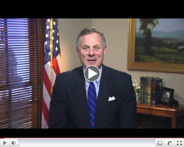 Sen. Richard Burr (R-NC) delivers Weekly GOP Address on supporting our veterans