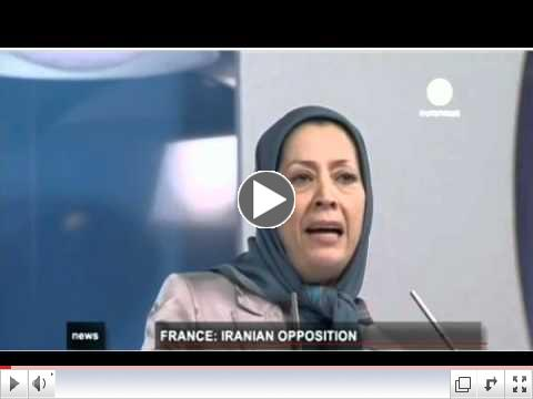 Iranian gathering june 23 2012 Villepinte - Paris- Euro news engliah