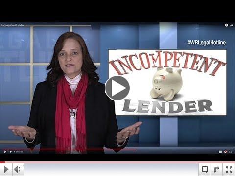 What if the lender is incompetent?