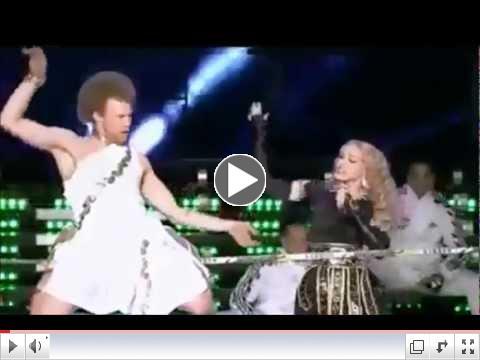 Madonna Super Bowl 46 Halftime Show Tightrope - Slackliner
